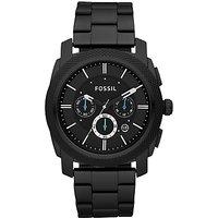 Fossil Mens Machine Chronograph Bracelet Strap Watch, Black
