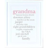 Megan Claire - Personalised Grandma Definition Framed Print, 35.5 x 27.5cm