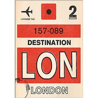 Nick Cranston - Luggage Labels: London Unframed Print with Mount, 40 x 30cm