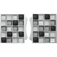 Aqualisa Mosaic Tile Inlays, Set of 2, Black