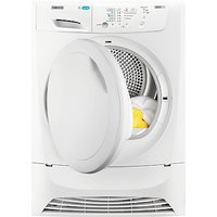 Zanussi LINDO ZDP7203 Condenser Freestanding Tumble Dryer, 7kg Load, B Energy Rating, White