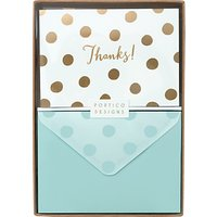 Portico Foiled Thank You Notecards, Box Of 10