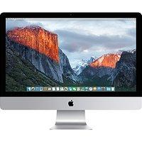 Apple iMac with Retina 5K display MK482B/A All-in-One Desktop Computer, Intel Core i5, 8GB RAM, 2TB Fusion Drive, AMD Radeon R9, 27, Silver