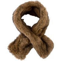 Chesca Double Sided Faux Fur Collar, Brown