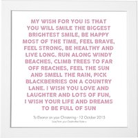 Modo Creative Personalised My Wish Framed Print, 18 x 18cm