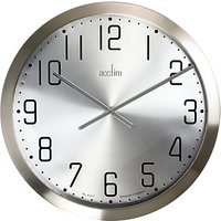Acctim Alvik XL Wall Clock, Silver, 50cm