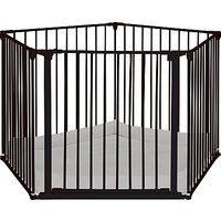 BabyDan Baby Playpen With Wall Fittings, Black