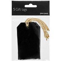 John Lewis Black/Kraft Twine Gift Tags X5