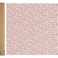 John Louden Ditsy Vine Print Fabric, White/Pink