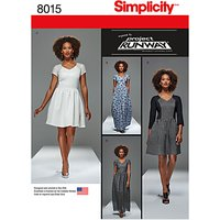 Simplicity Misses Womens Project Runway Dresses Sewing Pattern, 8015