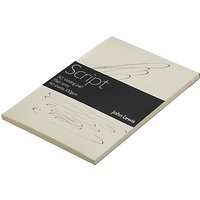 John Lewis Script Writing Paper, A5, 40 Sheets, Plain Ivory