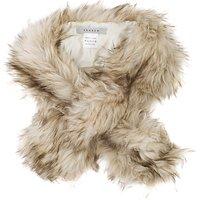 Chesca Faux Fur Scarf, Cream