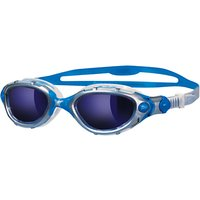 Zoggs Predator Flex Mirror Swimming Goggles, Blue Mirror/Silver