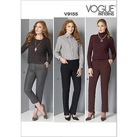 Vogue Women's Tapered Trousers Sewing Pattern, 9155