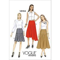 Vogue Women's Flared Skirts Sewing Pattern, 9154