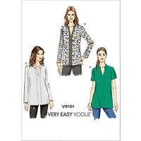 Vogue Women's Pullover Tunic Top Sewing Pattern, 9151