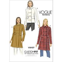 Vogue Women's Custom Fit Coat Sewing Pattern, 9157