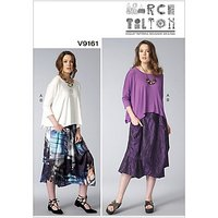 Vogue Misses' Women's Top and Skirt Sewing Pattern, 9161