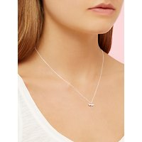 Estella Bartlett Dragonfly Pendant Necklace, Silver at John Lewis & Partners Department Store