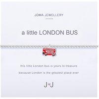 Joma A Little London Bus Enamel Charm Bracelet, Silver/Red