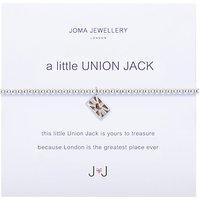 Joma A Little Union Jack Enamel Charm Bracelet, Silver