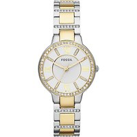 Fossil Womens Virginia Two Tone Stainless Steel Bracelet Strap Watch