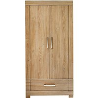 Silver Cross Portobello Wardrobe, Warm Oak