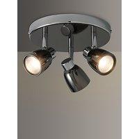 image-John Lewis & Partners Fenix GU10 LED 3 Spotlight Ceiling Plate, Black Pearl Nickel