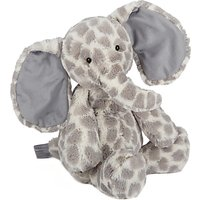 Jellycat Dapple Elephant Soft Toy, Medium, Grey