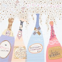 Woodmansterne Champagne Bottles Birthday Card