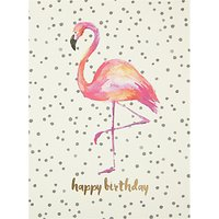 Portico Flamingo Birthday Card