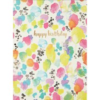 Portico Inky Dots Birthday Card