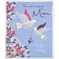 Woodmansterne Amazing Mum Doves Birthday Card
