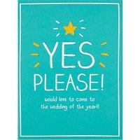 Pigment Wedding Acceptance Card