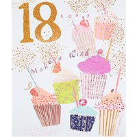 Woodmansterne Cupcakes 18th Birthday Card