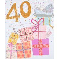 Woodmansterne Parcels 40th Birthday Card