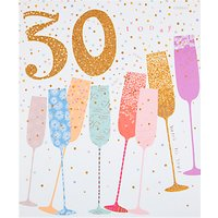 Woodmansterne Champagne Flutes 30th Birthday Card