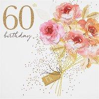 Portfolio Bouquet 60th Birthday Card
