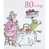 Woodmansterne Lady Eating Dinner 80th Birthday Card