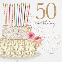 Portfolio Cake 50th Birthday Card