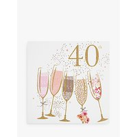 Portfolio Champagne 40th Birthday Card