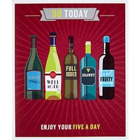 Woodmansterne Enjoy Your Five A Day 50th Birthday Card