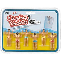 NPW Drinking Buddies Drink Markers, Set of 6