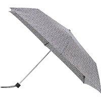 John Lewis Superslim Mini Spot Umbrella, Black/White