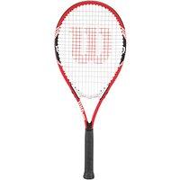 Wilson Federer Aluminium Tennis Racket, Red/White, L3