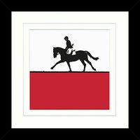 Jacky Al-Samarraie - Horse Riding Framed Print, 34 x 34cm