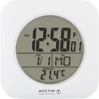 Acctim Bathroom Clock Wall Clock, White