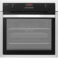 John Lewis JLBIOS621 Electric Single Oven, Black/Stainless Steel