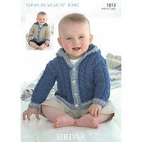 Sirdar Snuggly DK Jacket Knitting Pattern, 1813