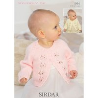 Sirdar Snuggly Baby Cardigans Knitting Pattern, 1944